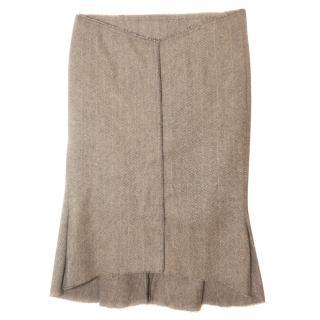 Roland Mouret knee length herringbone skirt