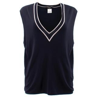 Chanel Navy Uniform Knit Vest