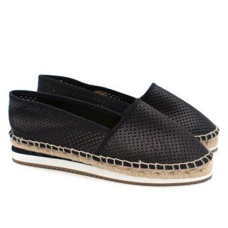 8 Black Perforated Espadrilles