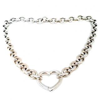 Tiffany & Co sterling silver heart choker