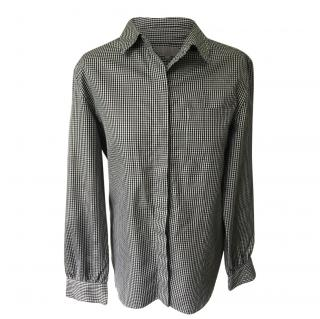Margaret Howell Long sleeve black and white checked shirt