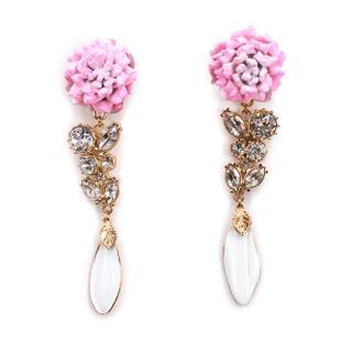 Jenny Packham Floral Multicrystal Drop Earrings