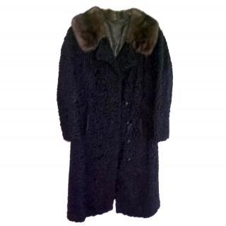 Vintage astrakhan black coat