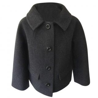 Raoul short wool coat in charcoal grey