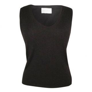 BRORA dark chocolate brown cashmere jumper, size 10