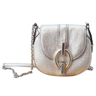 DVF gold leather crossbody bag
