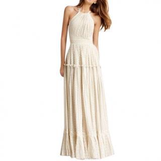 Roberto Cavalli  eyelet silk blend dress