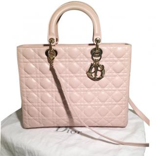 Dior Lady Dior large pink bag