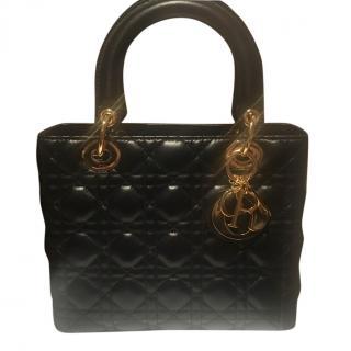 Lady Dior lambskin leather bag