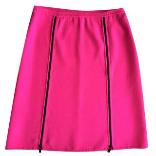 Michael Kors  mainline Hot Pink Zipper Skirt