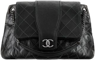 Chanel Large Calfskin Messenger Bag