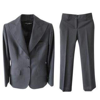 Dolce & Gabbana Black Pants Suit