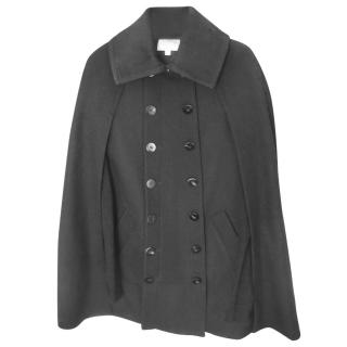 Elizabeth And James Black Wool Cape