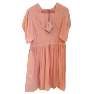 Miu Miu  silk pleated dress
