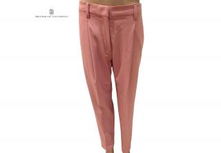 Brunello Cuccinelli blush pink tailored trousers