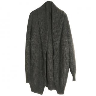 Maje grey wool cardigan