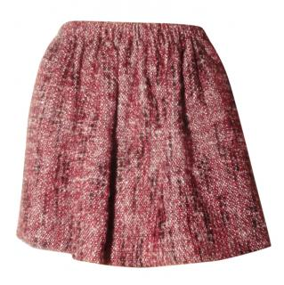 Maje red tweed mimi skirt