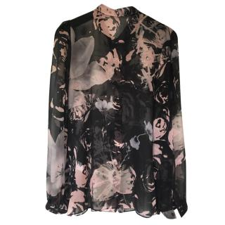 Dolce And Gabbana Silk Floral Blouse