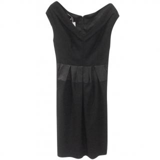Michael Kors mainline virgin wool & cashmere black dress