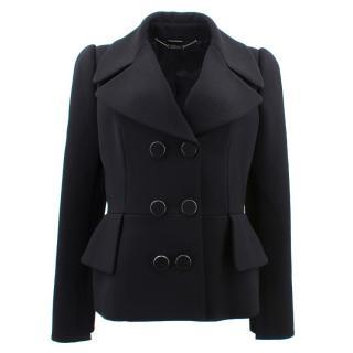 Alexander Mcqueen Wool Peplum Jacket