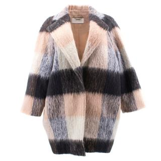 Chloe Mohair Blend Checked Coat