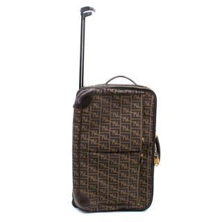 Fendi Zucca Canvas Trolley Suitcase