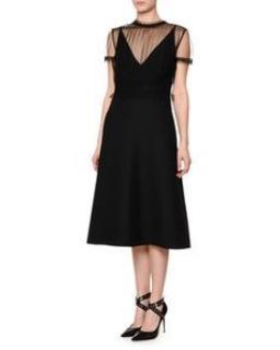 Valentino black tulle dress