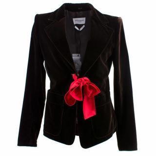 YSL Brown Velvet Blazer Jacket