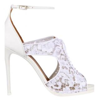 Givenchy White Lace Sandals