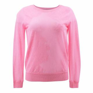 Sandro Pink Lace Jumper