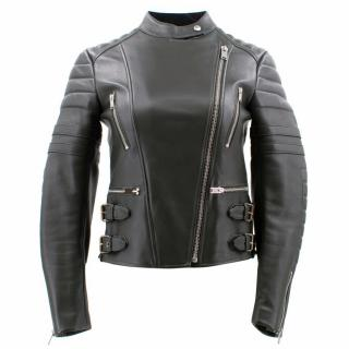 Celine Green Leather Biker Jacket