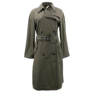 Prada Army Green Trench Coat