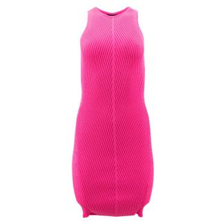 MCQ Pop Pink Bandage Knit Dress