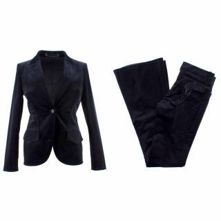 Gucci Black Cotton Blazer and Trouser Suit