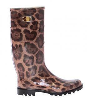 Dolce &Gabbana Leopard print Wellington Rain boots