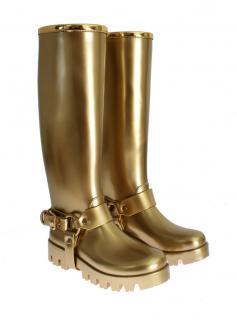 DOLCE &  Gabbana Gold Wellington boots