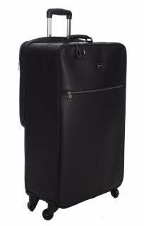 Dolce&Gabbana Black leather carry on suitcase