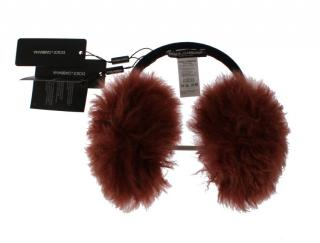Dolce & Gabbana Red Shearling Ear Muffs