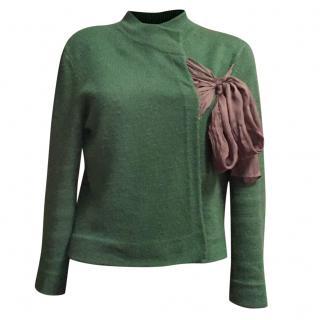DRIES van NOTEN emerald green knitted jacket size S