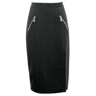 VERSACE Pencil Black Skirt