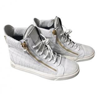 Giuseppe Zanotti Mock Croc Sneaker