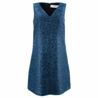 Victoria Beckham Blue Shift Dress