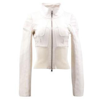 Jitrois Cream Leather Jacket