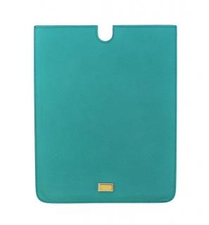 Dolce & Gabbana Blue Leather iPad Tablet Cover
