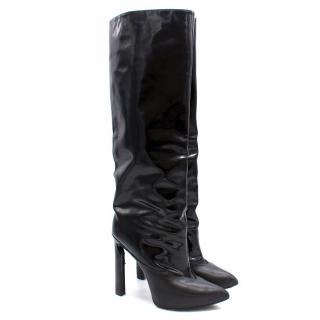 Jimmy Choo Black Patent Leather Knee High Boots