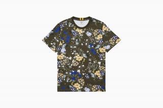 Erdem X H&M khaki floral t-shirt