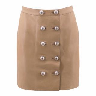 Gucci Tan Lamb Leather Skirt