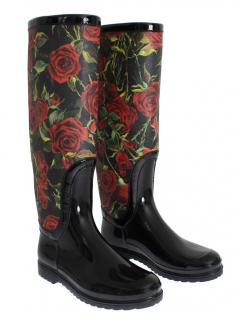 Dolce & Gabbana Red Roses Wellington Rubber boots