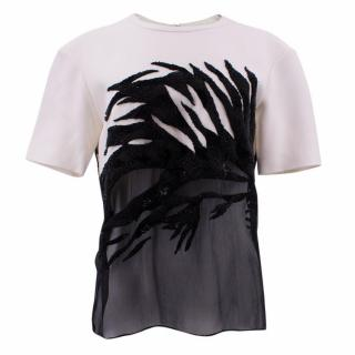 Jason Wu Monochrome Sequinned Top