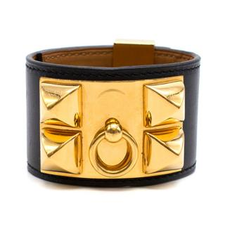 Hermes Collier de Chien Gold Metal Bracelet